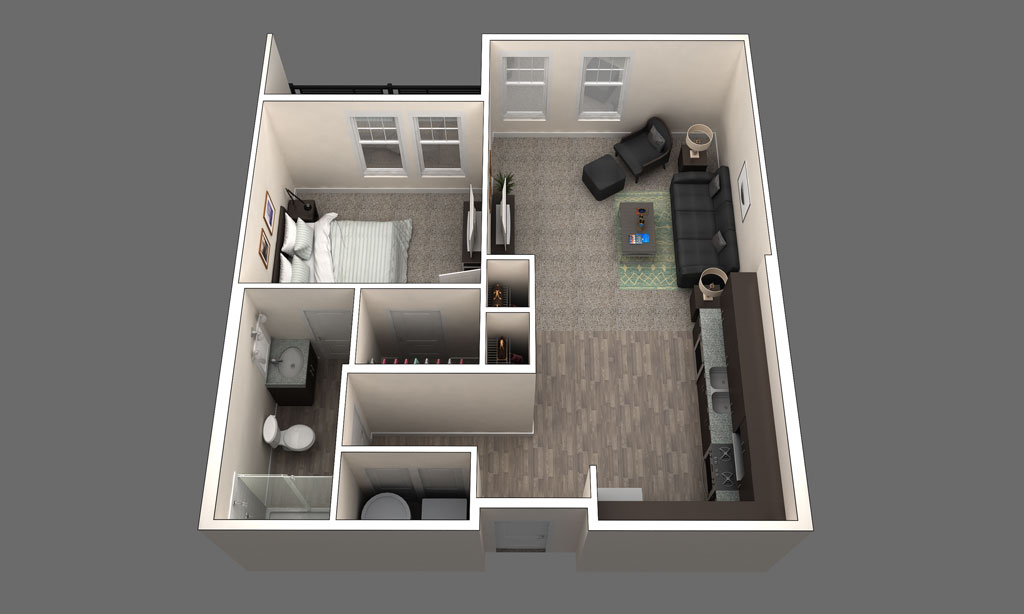 The Barcelona is a 1 Bedroom Floor Plan in Clintonville, Ohio
