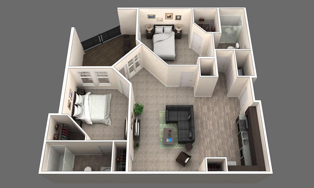 The London floor plan