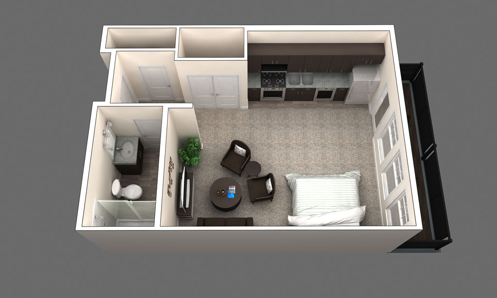 The Sydney is a 1 Bedroom Floor Plan in Clintonville, OH